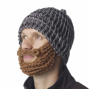The Original Beard Beanie™  Black and Gray 100% Hand Made