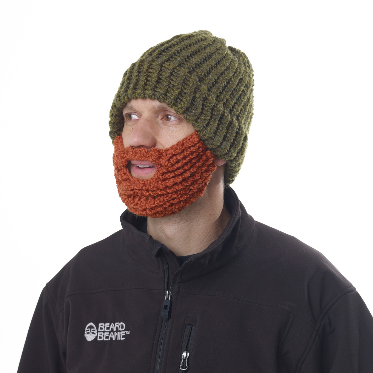 f4e7b791914 ... The Original Beard Beanie™ Green LumberJack 100% Hand Made. Image 1.  Loading zoom