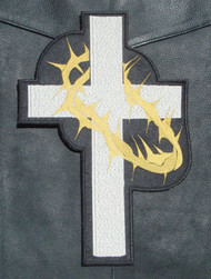 Cross and Thorns - Christian Patch