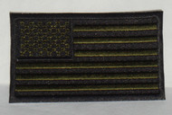 American Flag (Black and Military Green)