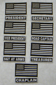American Flag and Officer Title (white)