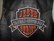 Jesus Christ Heavenly-Devoted Son - Christian Embroidered Biker Patch