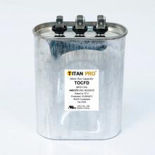 TITAN PRO RUN CAPACITOR 55+10 MFD 440/370 VOLT OVAL