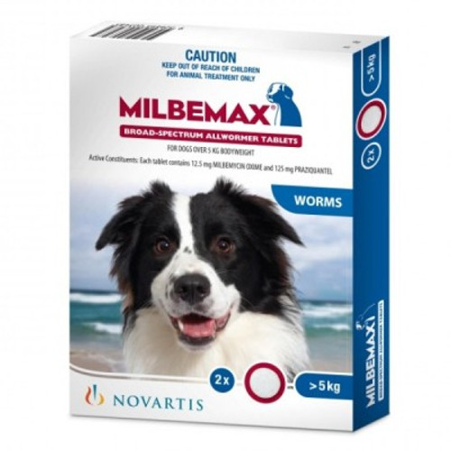 Milbemax Dogs 10 - 50 lbs Two Tablet Pack