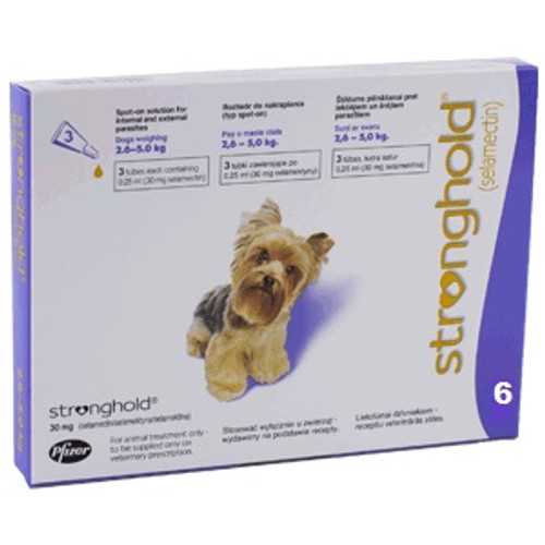 Stronghold for Dogs 5.1-10 lbs Violet 6 Pack