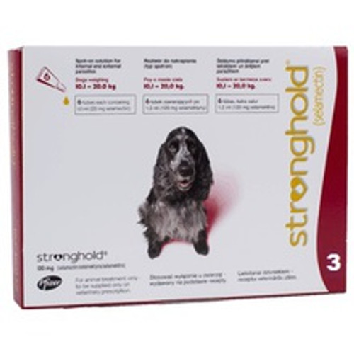 Stronghold for Dogs 20.1-40 lbs Red 3 Pack