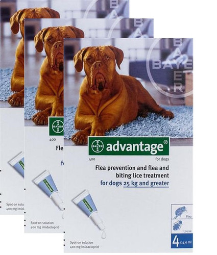 Advantage Blue 12 Pack Extra Large Dogs over 55 lbs
