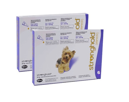 Stronghold for Dogs 5.1-10 lbs Violet 12 Pack