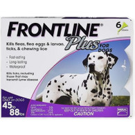 Frontline Plus 6 Pack Large Dogs