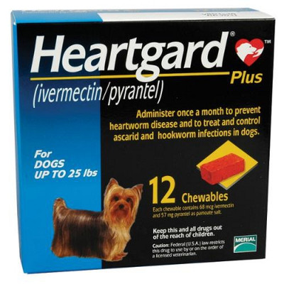 Heartgard Plus Chewables For Dogs Up To 25 Lbs Blue 12
