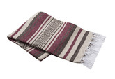 Burgundy, Brown and Tan Vera Cruz Mexican Blanket