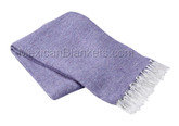 Light Purple Solid Heavy Weight Montana Mexican Blanket