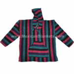 Mexican Baja Hoodies by Cozumel - Wholesale Lot of 10 Hoodies - (2 of each size) - Assorted Colors