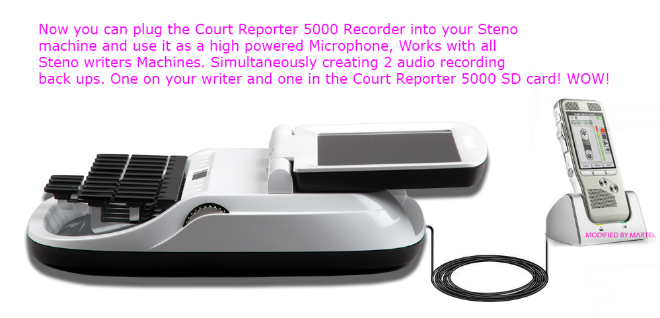 Special New Court Reporter Microphone for steno writers for recording voice sounds in the courtroom