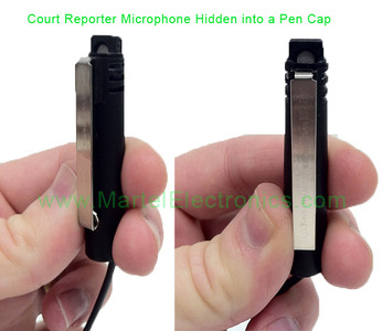 Worlds only Court Reporter Microphone concealed in a pen cap