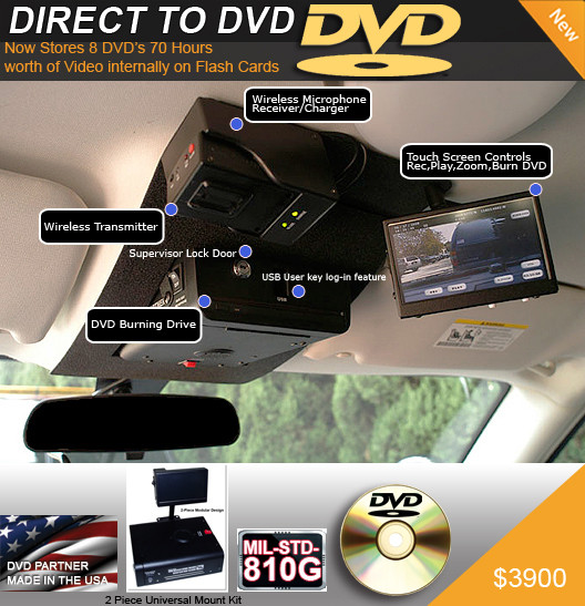 DVD Partner In Car Police Camera System