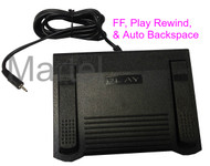 Marantz PMD661 and PMD620 3 way transcriber foot pedal, rewind, play, fast forward