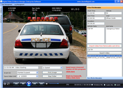 Digital Video Evidence Management Case Software for police in-car video camera systems & body-cameras