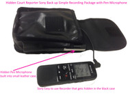 Hidden/concealed court reporter digital voice Sony recorder