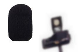 Foam Windscreen for Court Reporter Microphones, HGM1, HGM2, HGMUSB