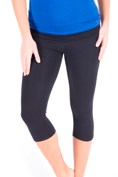 Breathable comfortable 3/4 leggings in luxury bamboo viscose
