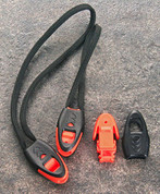 Paracord Whistle Ends/Orange & Black (10 pack)