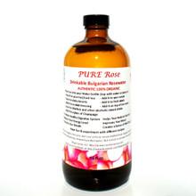 'PURE Rose' Drinkable Bulgarian Rose Water (16oz)