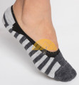 No-Show Striped Loafer Liners Alpaca Socks - AndeanSun - Light Grey and Grey - 16711731