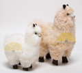 Alpaca Fur Stuffed Figurine Standing with booties - Alpaca Figurine Stuffed Animal