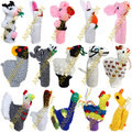 50PK Hand Knitted Finger Puppets ASSORTED FARM Animals - 1594170950PK-MTO