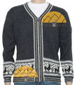 Alpacas Merry go Round Zip Up Cardigan - Alpaca Sweater - Alpaca Blend - Charcoal - 16261716