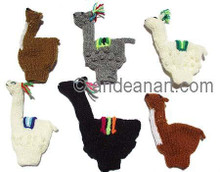 NEW FOR 2018 - 50PK Hand Knitted Finger Puppets IVORY ALPACA FIGURINE - RAW - 1594170150PK-MTO