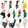 NEW FOR 2018! 50PK Hand Knitted Finger Puppets ASSORTED BIRDS - RAW - 1594170850PK-MTO