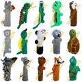 NEW FOR 2018! 50PK Hand Knitted Finger Puppets ASSORTED WILD Animals - RAW - 1594171150PK-MTO