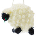 Hand Knitted Stuffed Sheep Ornament - US Stock