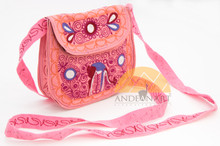 16201108 Embroidered Crossbody Semi-round Bag Small Colca Canyon Style