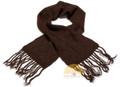 100% Alpaca Scarf SOLID COLORS (HandSpun - HandKnitted - UNDYED Natural Alpaca Colors) - Rustic Quality - 16772204