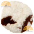 "Round Alpaca Fur Pillow Cover 11"" - Mixed Colors - 16728001"