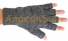 Fingerless Solid Color Alpaca Gloves - Alpaca Blend - Rustic Quality - Natural - 16783215