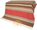 Alpaca-Blanket-Throw-Southwestern-Design-Bright Red-Combo