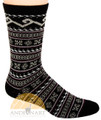 Fair Isle Crew Alpaca Socks by AndeanSun - Black - 16711723
