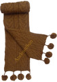 Alpaca Hand-knitted Wide Cable Scarf for children - US STOCK