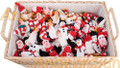 36 (3 Dozen) Hand Knitted Finger Puppets ASSORTED Christmas Characters - RAW - 15941780