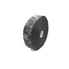 "Multicam Black Printed Loop 4"" wide per yard"