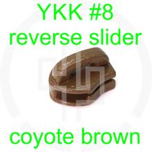#8 YKK coyote brown reverse zipper slider (20 pack)