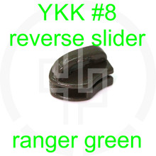 #8 YKK ranger green reverse zipper slider (20 pack)