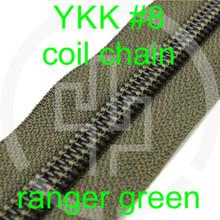 #8 YKK 5/8 ranger green milspec zipper zipper chain (5 yard pack)