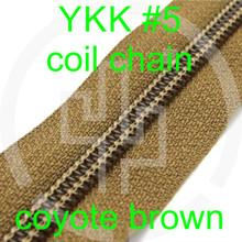#5 YKK 5/8 coyote brown milspec zipper zipper chain (5 yard pack)