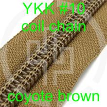 #10 YKK 3/4 coyote brown milspec zipper zipper chain (5 yard pack)