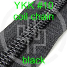 #10 YKK 3/4 black milspec zipper zipper chain (5 yard pack)